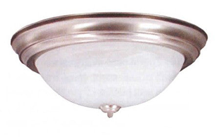 "13"" Brushed Nickel Alabaster Dome Light - LT5"