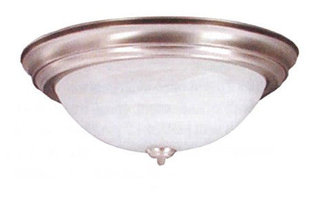 "13"" Polished Brass Alabaster Dome Light - LT5"
