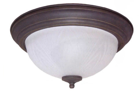 "15"" White Frost Leaf Dome Light - LT5"