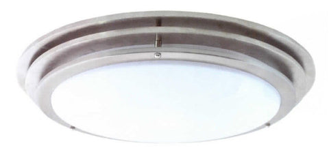 "14"" Contemporary Ceiling Mount Light Brushed Nickel - LT5"