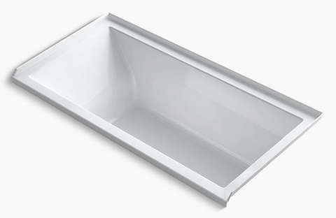Kohler Underscore Alcove Vibracoustic Right Drain Soaking Bathtub