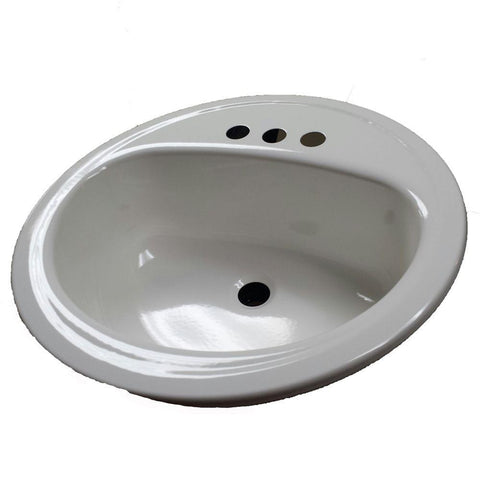 "19"" Laurel Round White Drop In Sink - SK4"