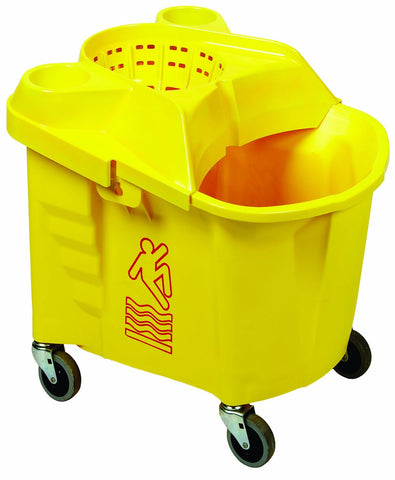 Continental 35 Qt. Institutional Mop Bucket with Wringer - HH5