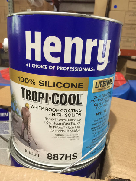 Henry 887hs Tropi Cool White Silicone Roof Coating