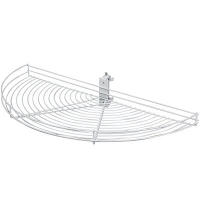 Pivot Half Moon White Wire Lazy Susan Shelf - CAB1