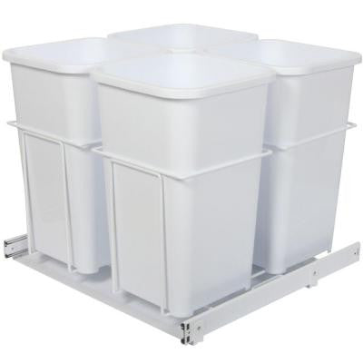In Cabinet Pull Out Bottom Mount 4-Bin Waste & Recycle - CAB1