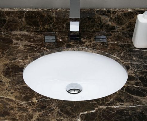 American Imaginations Oval Undermount Ceramic Sink - SK4