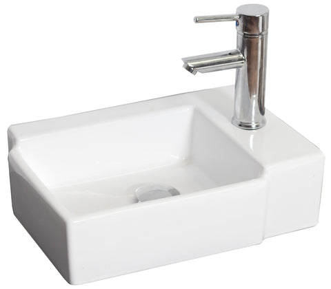 American Imaginations Above Counter Rectangle Vessel Sink - SK4