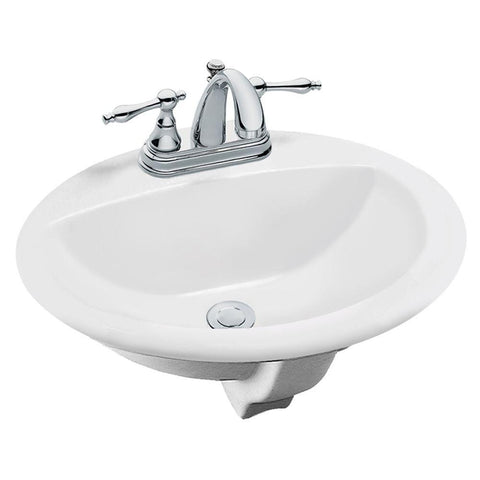 Aragon Self-Rimming Bathroom Sink in White - SK4