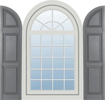Raised Panel Arch Top For Vinyl Shutters Sh4 Wholesale
