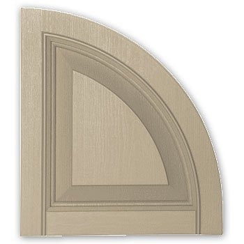 Raised Panel Arch Top for Vinyl Shutters - SH4