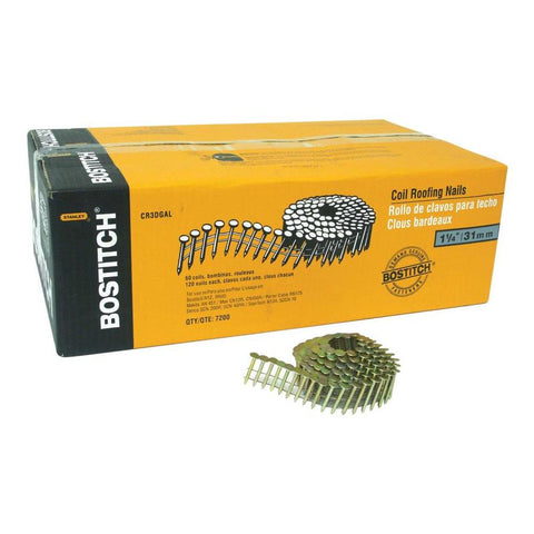 Bostitch 15-Gauge 15-Degree Pneumatic Roofing Nails - MN01