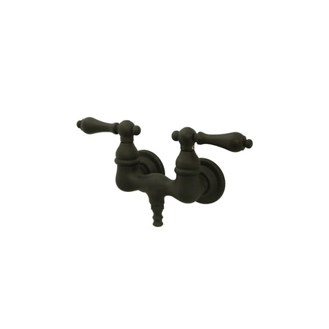 Elements of Design Wall Mounted Clawfoot Tub Faucet in Dark Bronze - FAU5