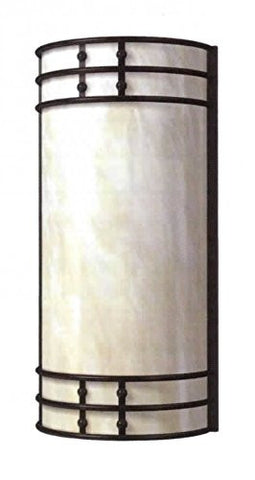 Decorative Wall Sconce Oil Rub Bronze White Opal - LT6