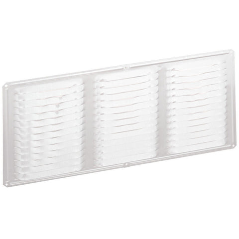 8-in White Aluminum Soffit / Under Eave Vent