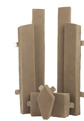 M-Rock 7 Piece Fireplace Trim Kit - MN01