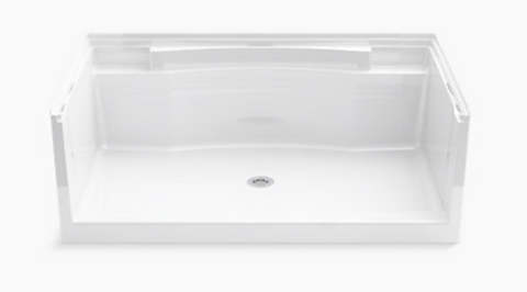 "Kohler 36"" x 60"" Single Shower Base in White - BA3"