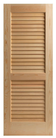 Interior Solid Wood Louvered Doors - IDR1
