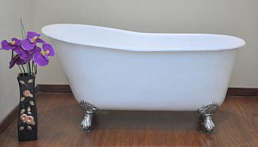 "Lunsford 57"" Designer Free Standing Cast Iron Tub"