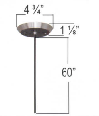 Architectural Mini Pendant in Brushed Nickel - LT3