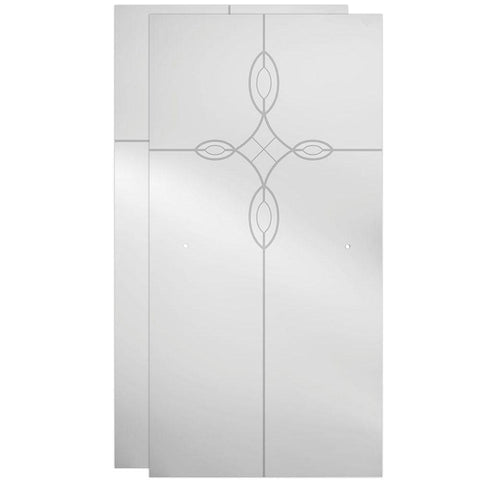 "60"" Sliding Glass Shower Door Frosted - BA3"