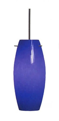 Architectural Mini Pendant Brushed Nickel Cobalt Blue by Epiphany - LT3