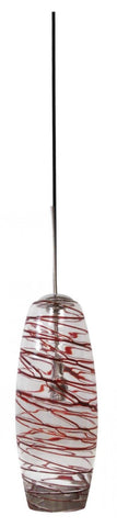 Architectural Pendant Brushed Nickel Red Tail Bee Hive - LT3