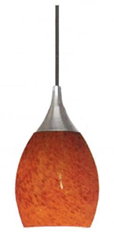 Architectural Mini Pendant Brushed Nickel Crimson - LT3