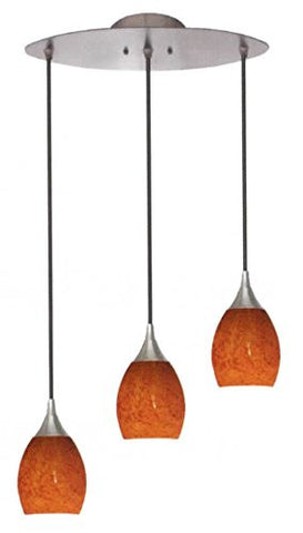 Architectural Mini Pendants 3-light Brushed Nickel Crimson - LT3