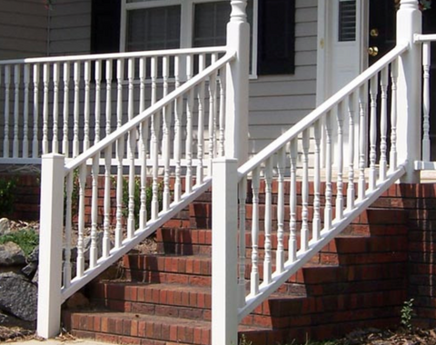 Color Guard Architectural 6' Stair Railing Kit in White - MN01