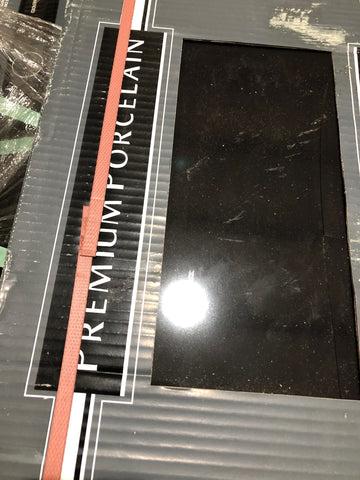 "12""x24"" Black Premium Porcelain Tile"