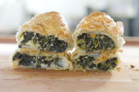 Spinach & Three Cheese Roll