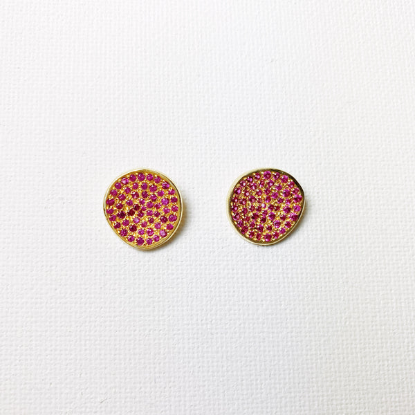 Atelier Rosa Stud Earrings - Ruby