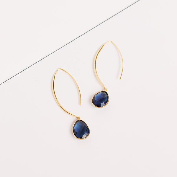 Stiletto Earrings - Iolite