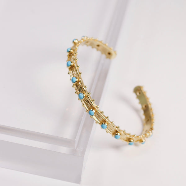 Etruscan Cuff Bracelet - Turquoise