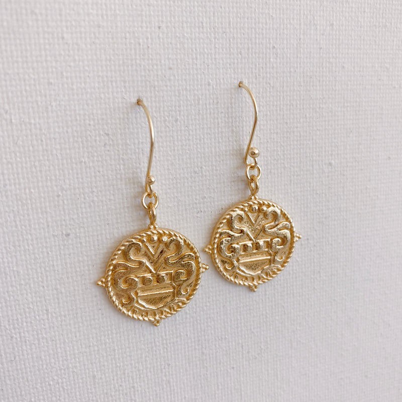Vintage Medallion Earrings