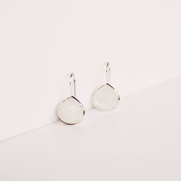 Turks and Caicos Earring - Moonstone/Silver
