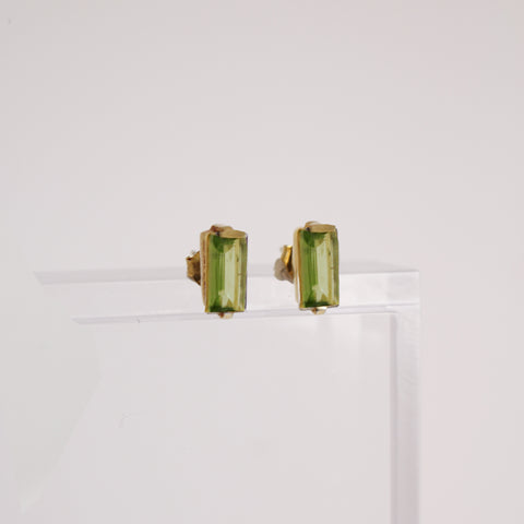 Sophie Stud Earrings - Peridot