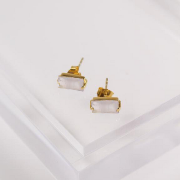 Sophie Stud Earrings - Moonstone
