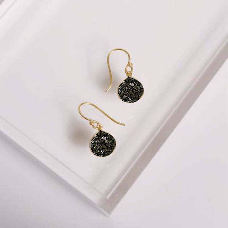 Turks and Caicos Earrings - Black Deco Diamond