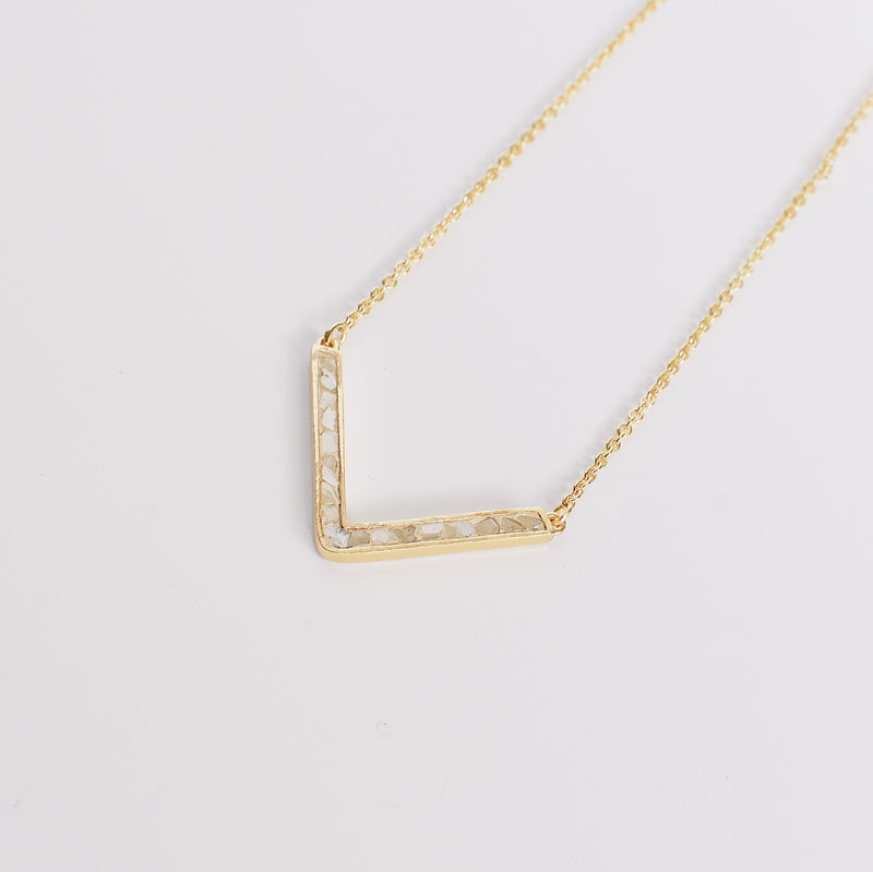 Easton Necklace - White Deco Diamond