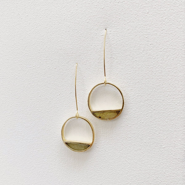 Half-Moon Bay Earrings - Labradorite