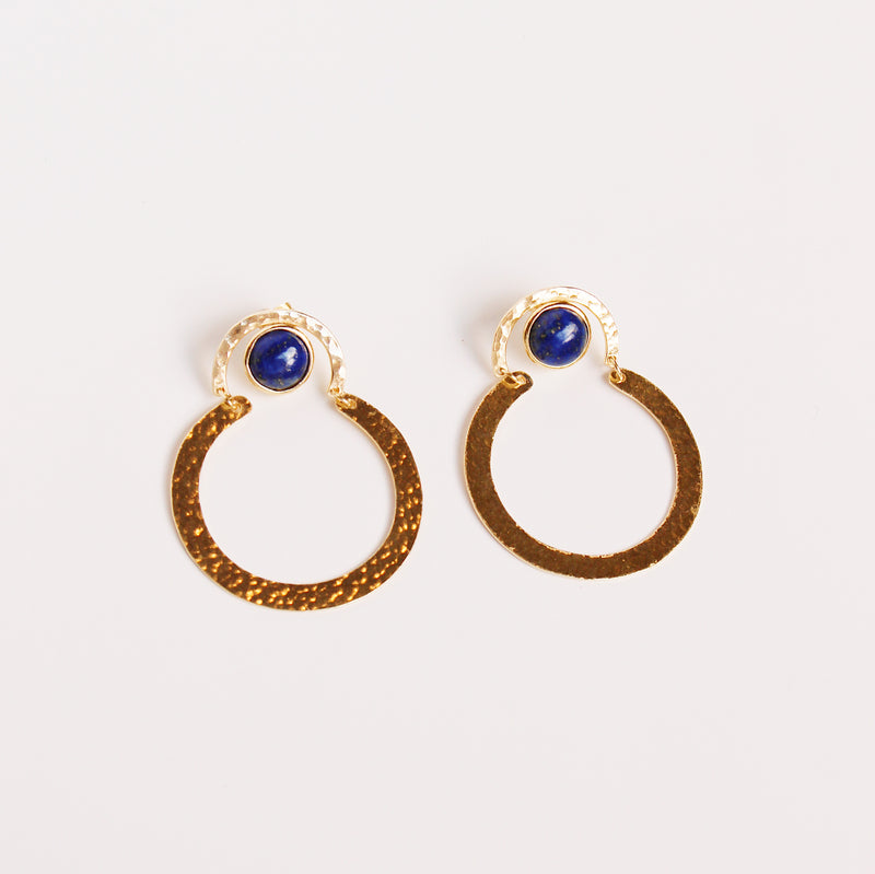 Helen Earrings - Lapis