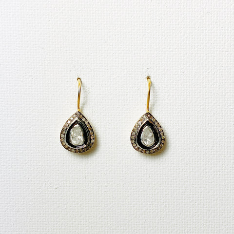 Atelier Heirloom Diamond Teardrop Drop Earrings