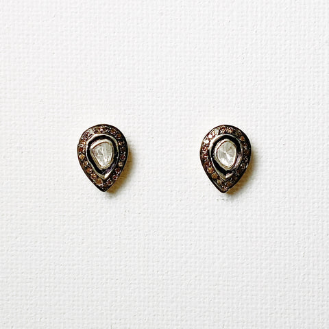 Atelier Heirloom Diamond Teardrop Stud Earrings (Small)