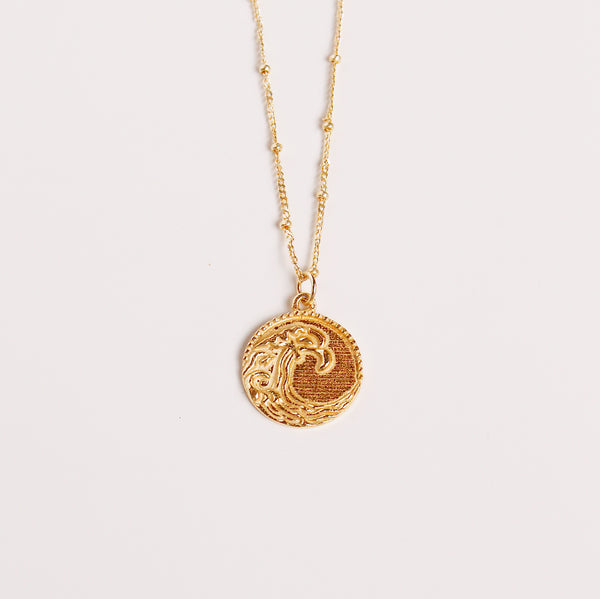 Ocean Wave Medallion Necklace