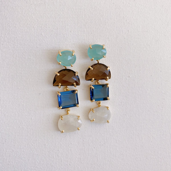 Alex Earrings Set- Iolite