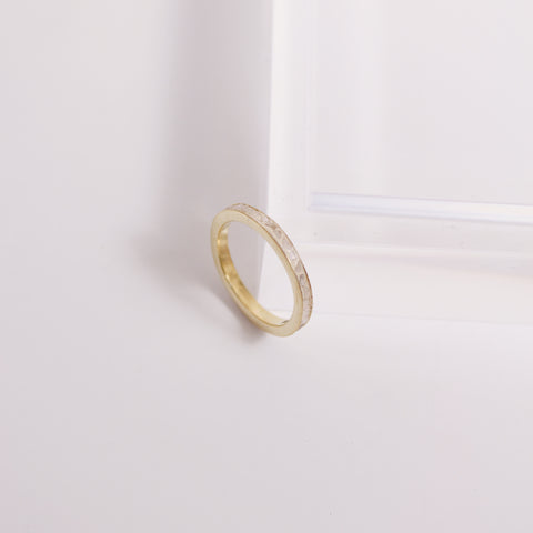 Deco Diamond Band - White