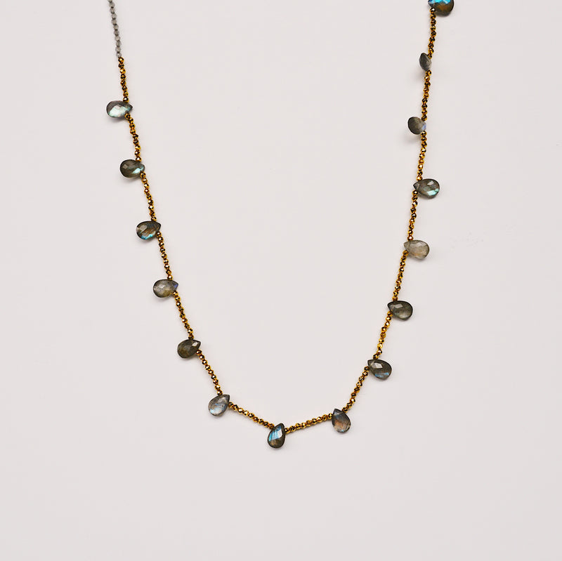 Guinevere Necklace - Labradorite