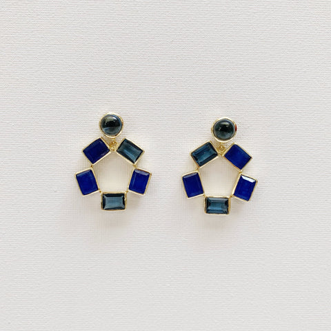 Naomi Earrings - Blue Iolite